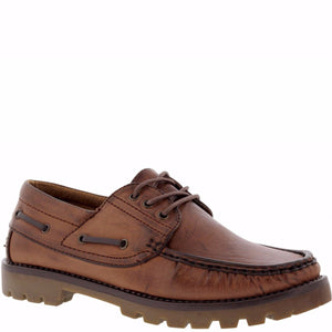 Joy Foot Men'S 3 Eye Lace Up Moc Toe Loafer - Vim.com