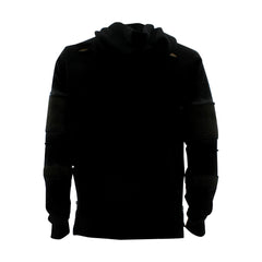 Floose - Men's F.Terry Biker Hoodie Rips Sweatshirt - Black - V.I.M. - 2