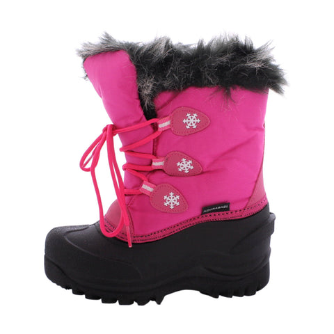 Adorababy - Girl's Water Proof Snow Boot (Toddler/Little Kid/Big Kid) - Fuchsia/Black