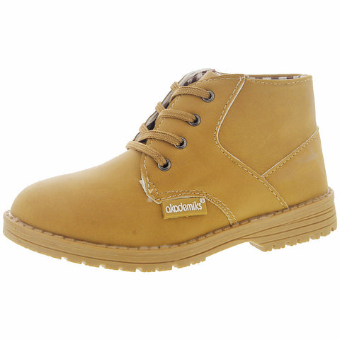 Akademiks - Terry 01 Mid Chukka Boot (Little Kid) - Wheat