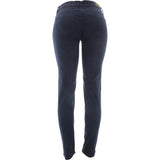 Azazel - Women's Basic Color Stretch Jeans - Navy Blue - V.I.M. - 2