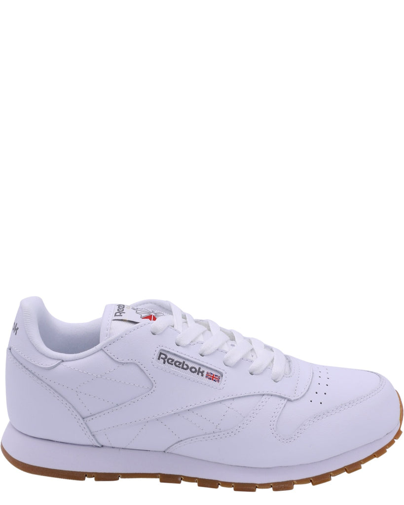 REEBOK Classic Leather Gum Sneaker (Grade School) - White - Vim.com