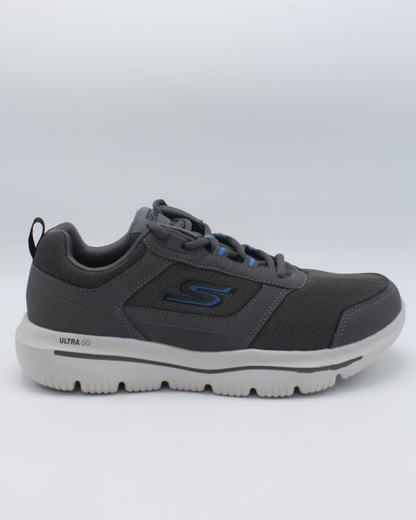 SKECHERS-Men's Gowalk Evolution Ultra - Enhance Sneaker - Grey-VIM.COM