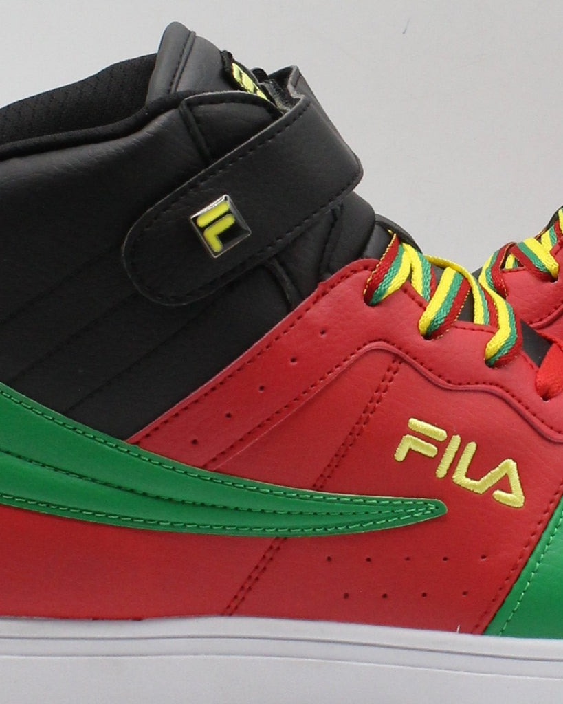 FILA Men'S Vulc 13 Mp Bc Sneaker - Black Red Green - Vim.com