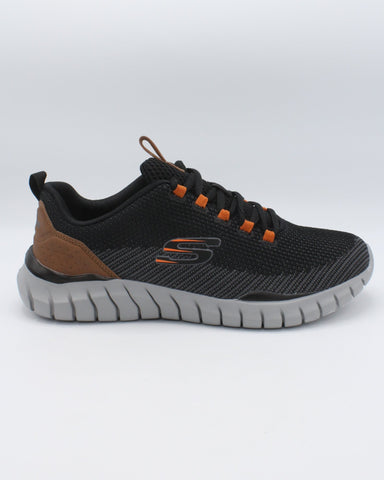 SKECHERS-Men's Overhaul Sneaker - Black-VIM.COM