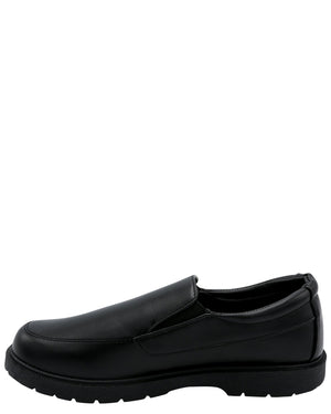 Eddie Marc Kids Boy'S Slip On School Shoe (Grade School) - Black - Vim.com