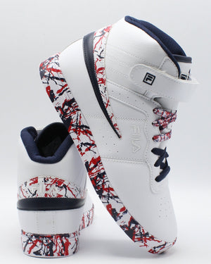 FILA-F 13 Mp Marble Sneaker (Grade School) - White Navy Red-VIM.COM
