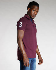U.S. POLO ASSN. Us Polo Slim Fit Stripe Collar Shirt - Burgundy - Vim.com