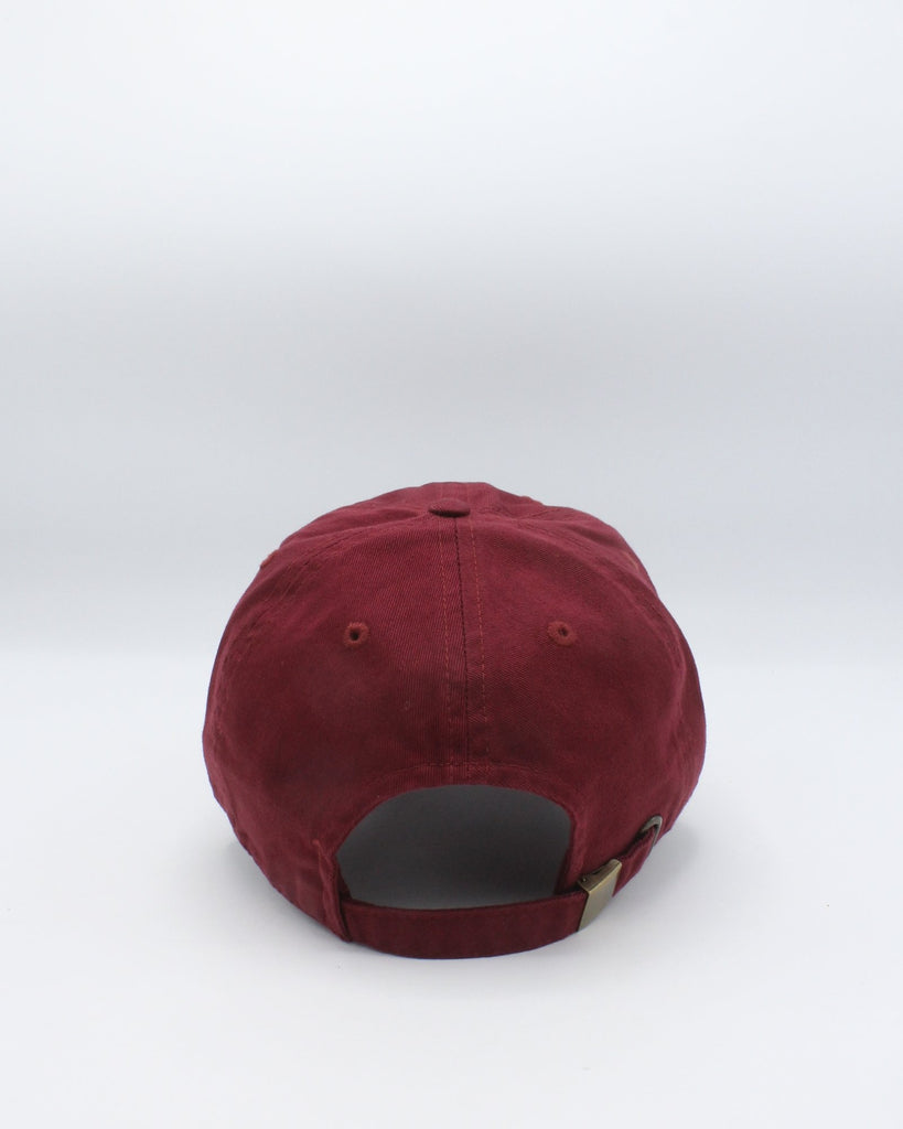 VIM Savage Box Logo Plain Dad Hat - Burgundy - Vim.com