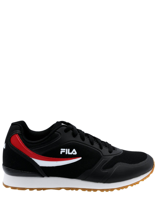 FILA-Men's Forerunner 18 Sneaker - Black Red-VIM.COM