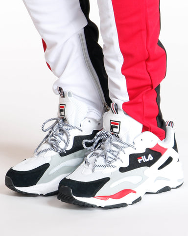 FILA-Men's Ray Tracer Sneaker - White Black Red-VIM.COM