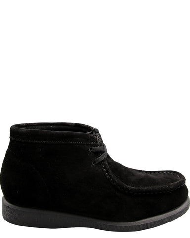 Hush Puppies Boys' Bridgeport Suede Wallabee Boots (Pre School) - Black - Vim.com