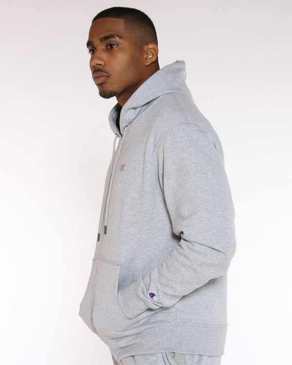 CHAMPION Champion Powerblend Full Zip Hoodie - Heather Grey - Vim.com