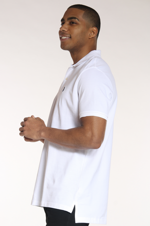 Men's Solid Polo Shirt - White