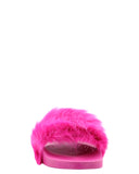 Girl's Beautiful Rio-66K Fur Open Toe Slippers/Slides/Sandals - V.I.M. - 3