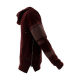 Floose - Men's F.Terry Biker Hoodie Rips Sweatshirt - Burgundy - V.I.M. - 3