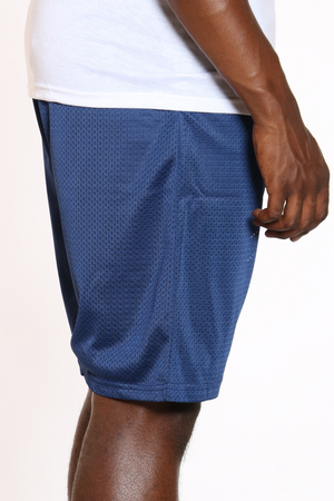 Men's Solid Heavy Mesh Short - Navy