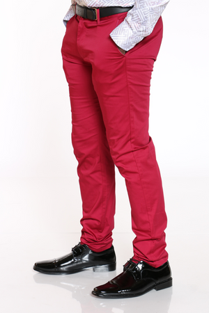 Men's Chino Modern Fit Pant - Berry