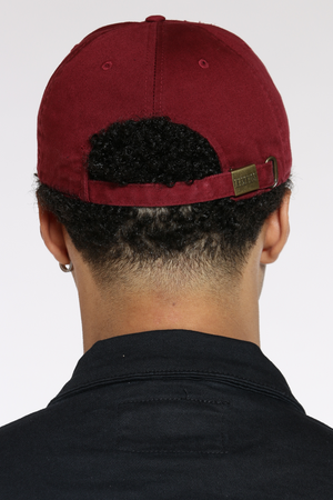 Good Vibes Only Distressed Hat - Burgundy