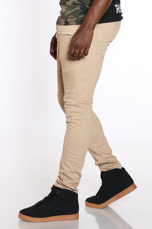 Men's Moto Knee Pant - Khaki