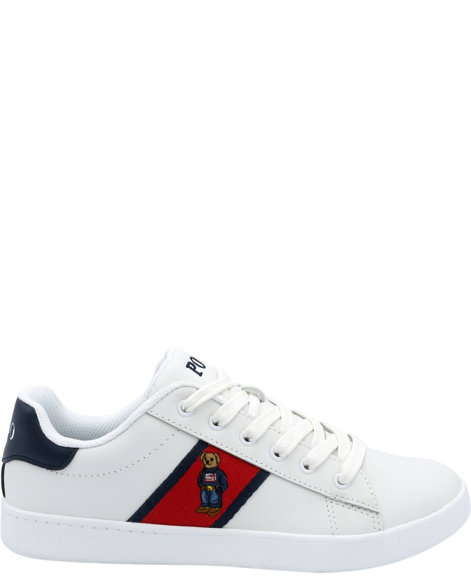 Polo Ralph Lauren Boy/'s Shoes Runner Lace Ups White Red