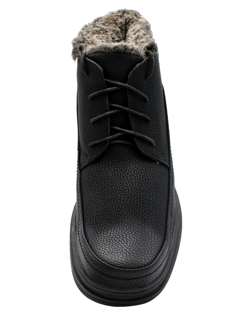 VIM Men'S Lace Up Fur Boot - Black - Vim.com