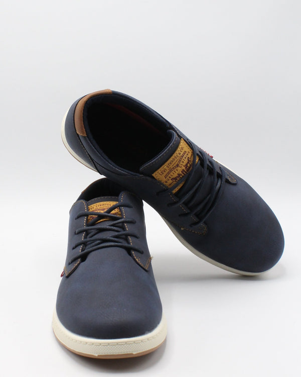 LEVI'S Men'S Percy Waxed Ul Sneaker - Navy - Vim.com