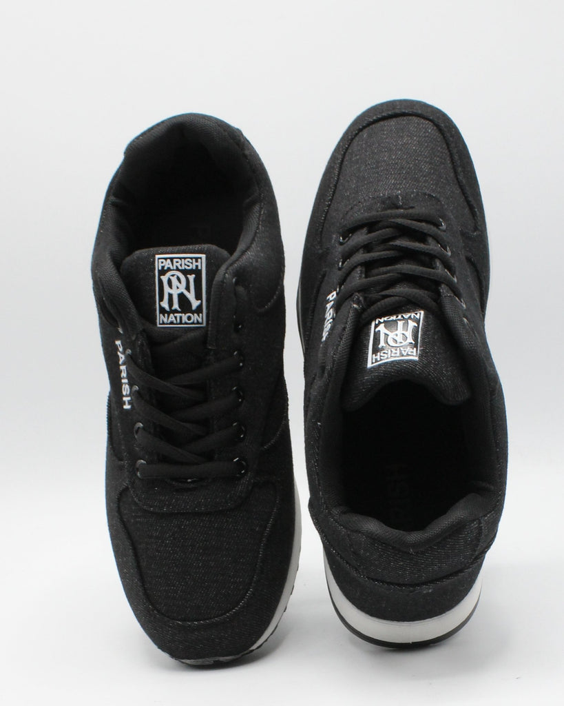 PARISH NATION Men'S Denim Jogging Sneaker - Black - Vim.com