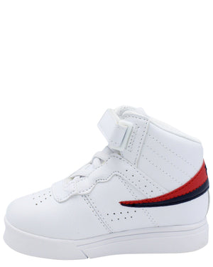FILA F-13 Mid Sneaker (Toddler) - White Navy Red - Vim.com