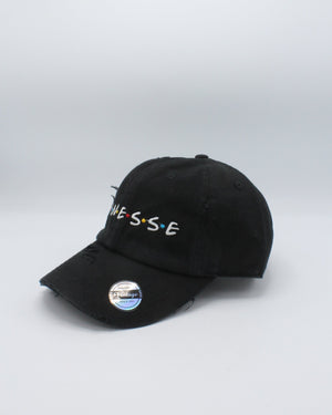 VIM Finesse Distressed Dad Hat - Black - Vim.com