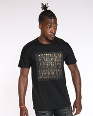 VIM Never Accept Defeat Printed Tee - Black - Vim.com