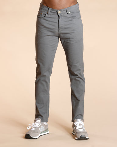 Basic Five Pocket Twill Pants - Dark Grey