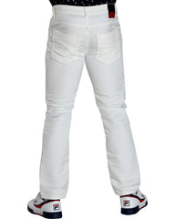 Men'S Coated Embroidery Pocket Jeans