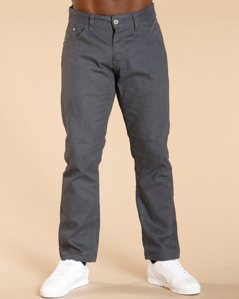 Five Pockets Twill Pants - Charcoal