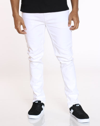 SKAZI-Men's Chris Twill Pant - White-VIM.COM