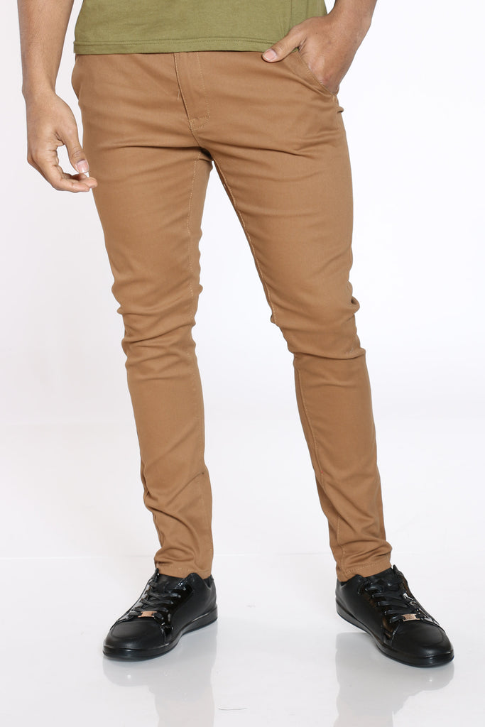 Kamil Belted Twill Straight Pant - Copper