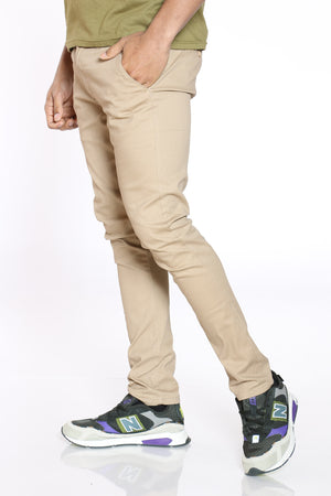 Men's Kamil Belted Twill Straight Pant - Khaki