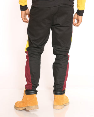 Men's Tyson Color Block Side Twill Jogger - Black