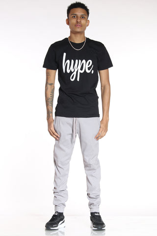 Men's Classic Solid Twill Jogger - Dove Grey-VIM.COM