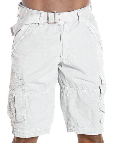 Men'S Twill Belted Cargo Shorts