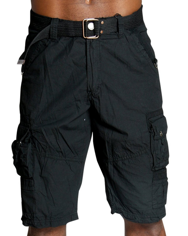 4e5feb089e Men'S Belted Polin Cargo Shorts - Black