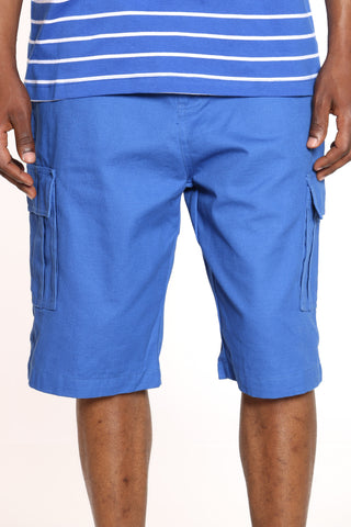 Men's Belted Cargo Short - Royal-VIM.COM