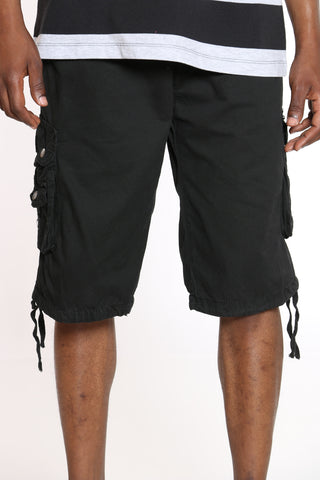 Men's Cargo Short - Black-VIM.COM