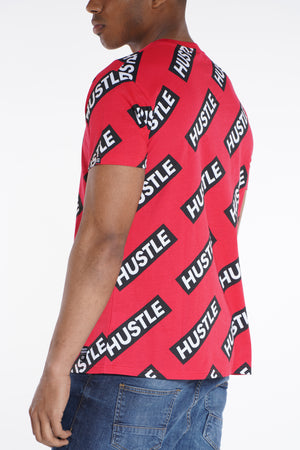 Popeye Hustle Print Tee - Red