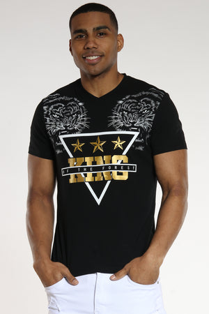 Men's 2 Tigers King Of The Forest Tee - Black-VIM.COM
