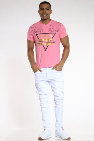 Men's 2 Tigers King Of The Forest Tee - Pink