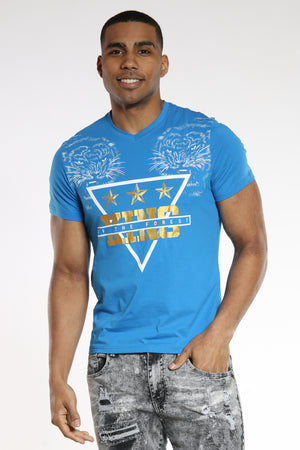 Men's 2 Tigers King Of The Forest Tee - Blue-VIM.COM