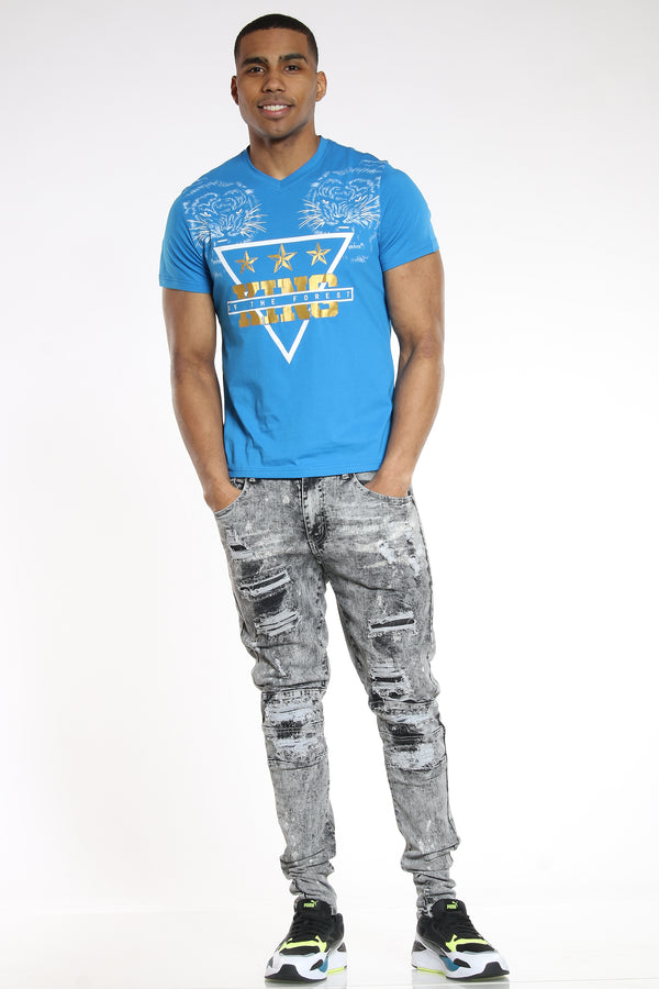 Men's 2 Tigers King Of The Forest Tee - Blue