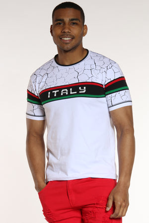 On Our Way Italy Shirt - White-VIM.COM