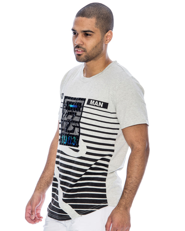 Men's Z 1983 3d Box Stripe Tee - Grey